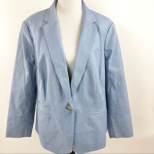 Talbots Geometric One Button Blazer Jacket Lined